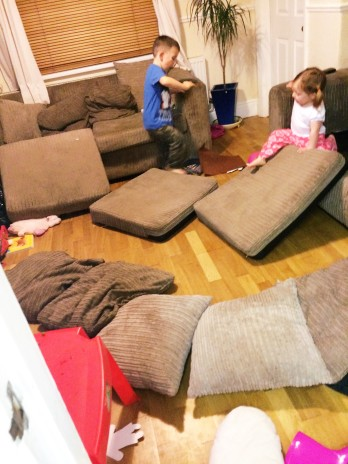 kids sofa mess