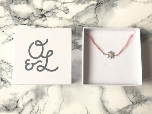 Ollie & Leila Pink Star Friendship Bracelet In Box