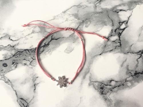Ollie & Leila Pink Star Friendship Bracelet
