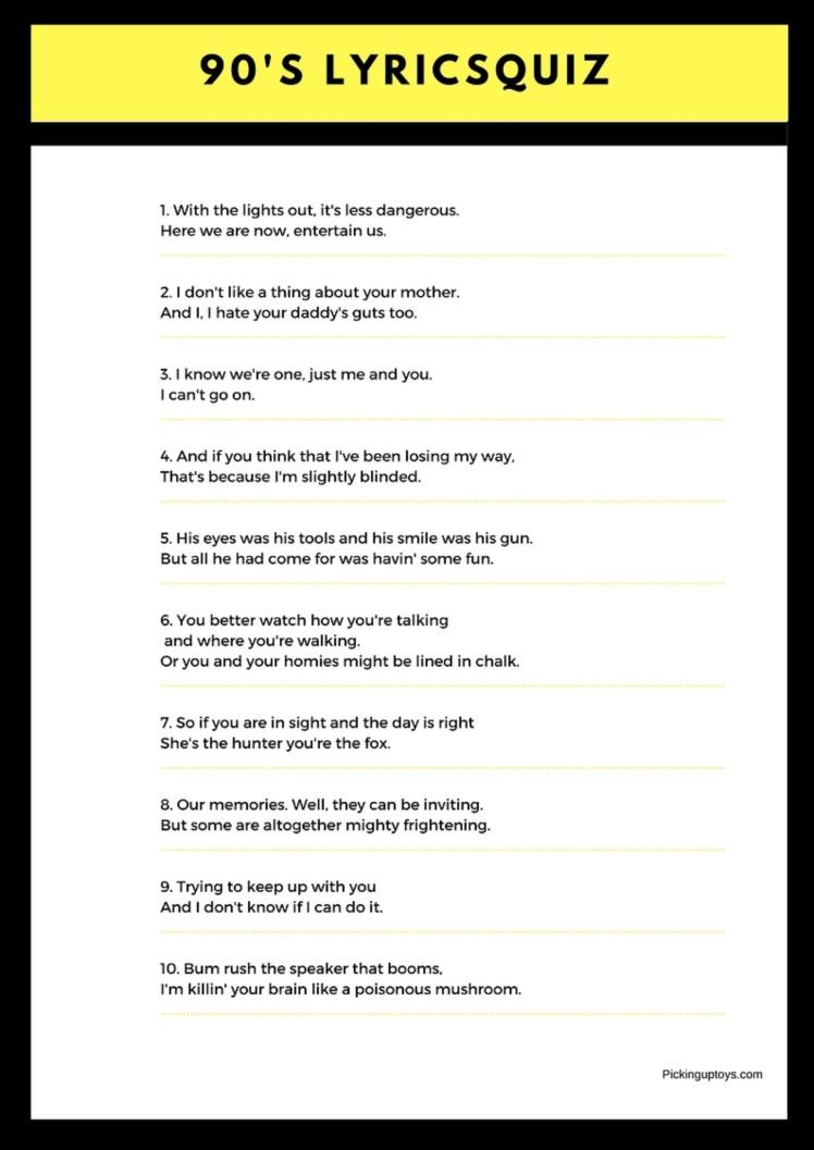 90's-song-lyrics-quiz