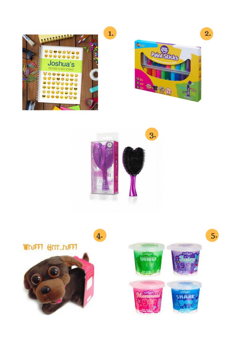giftpup-emoji-notebook-little-brian-paint-sticks-tangle-angel-tangle-cherub-find-me-a-gift-chocolate-chops-smiggle-goo