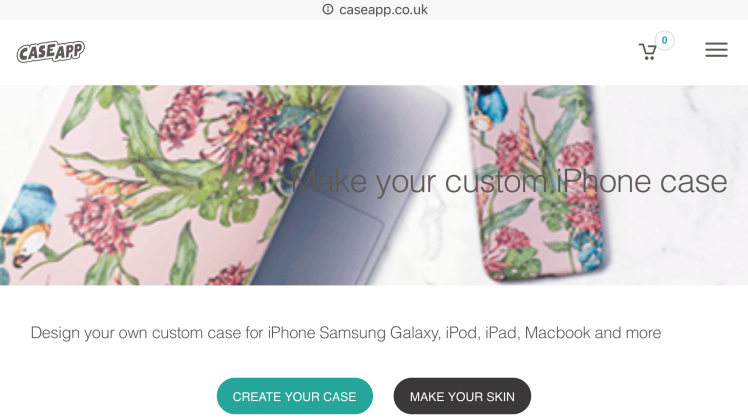 caseapp landing page