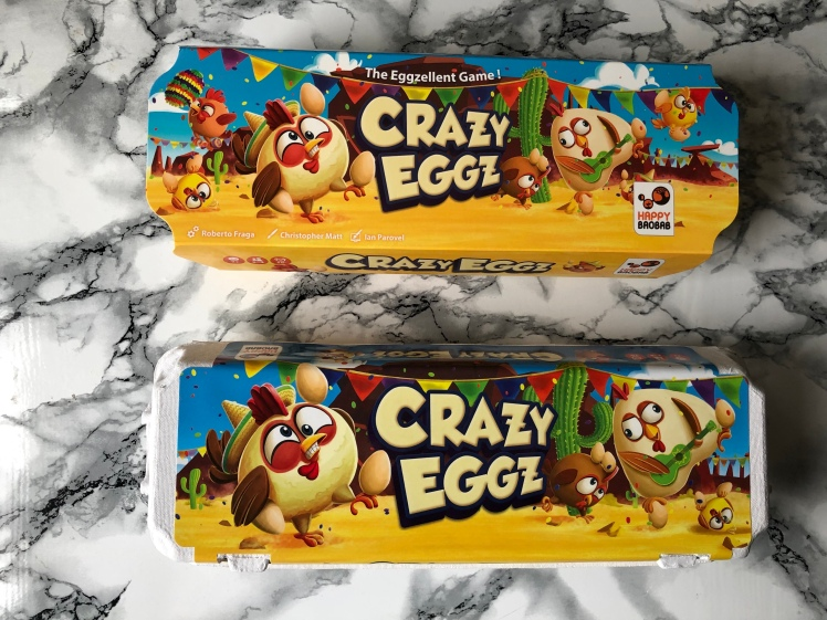 Asmodee Board Game Club Happy Baobab Crazy Eggz Box