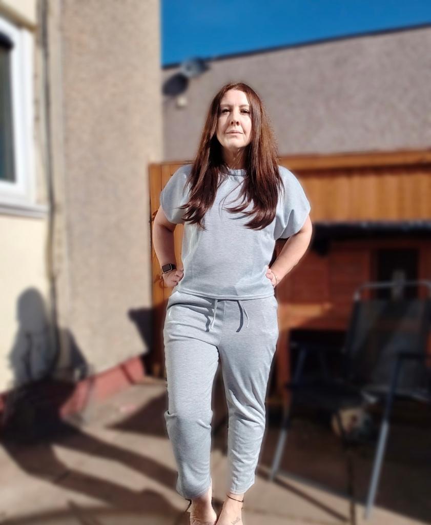 Katchme Grey Boxy T-Shirt & Joggers Lounge Set